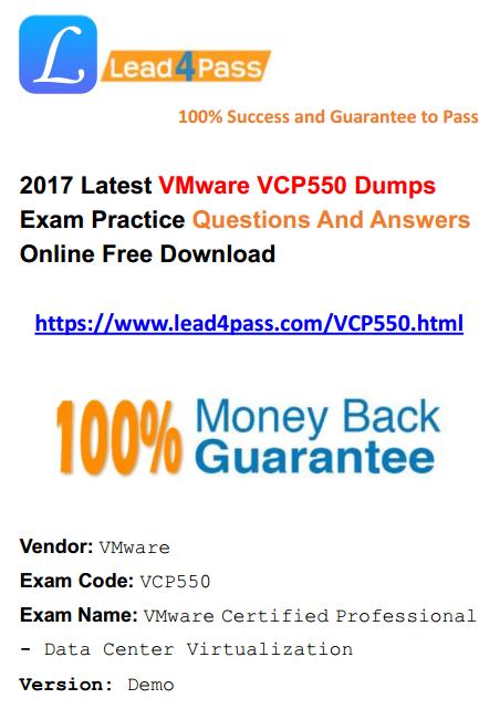 VCP550 dumps